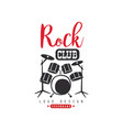 rock club logo design emblem for rock club or vector image vector image