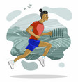 running man in detailed vector image vector image