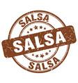 salsa brown grunge round vintage rubber stamp vector image vector image