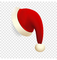 santa hat icon realistic style vector image