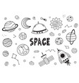set isolated black space elements vector image