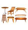 Set of chairs and tables vector image vector image