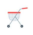 shopping cart or shop supermarket trolley baskets vector image