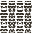 Silhouette of Masks Seamless Pattern vector image