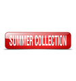 summer collection red square 3d realistic isolated vector image vector image