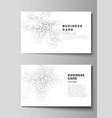 the minimalistic abstract layout of two vector image vector image
