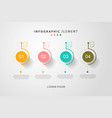 timeline infographic in flat design vector image vector image