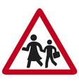 traffic sign schoo vector image