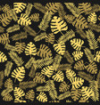 tropic seamless pattern with golden leaves vector image vector image