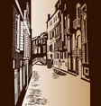 venice lane is an ancient city vector image