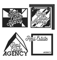 Vintage real estate agency emblems vector image