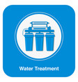 water treatment poster template with text vector image vector image