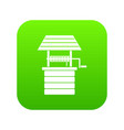 water well icon digital green vector image