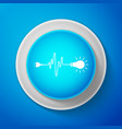 white wire plug and light bulb icon isolated vector image