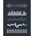 Audio equalizer vector image
