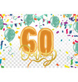 60 years anniversary and birthday with template