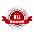 All inclusive button vector image vector image