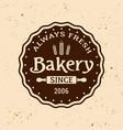 bakery vintage round emblem vector image vector image