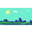Banner mountain image vector image