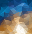 beige blue abstract polygon triangular pattern vector image vector image