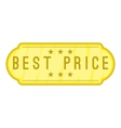Best price label icon cartoon style vector image