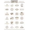 big set of coffee elements and coffee accessories vector image vector image