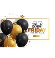 black friday sale banner 3 vector image
