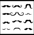black mustaches set vector image vector image