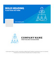 blue business logo template for team teamwork vector image