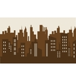 Brown backgrounds building silhouette vector image vector image