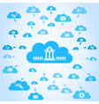 Business a cloud3 vector image vector image