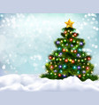 christmas realistic background vector image vector image