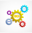 colorful gears with the words creativity innovati vector image vector image