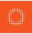 CPU line icon vector image