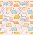 cute pig seamless pattern background vector image