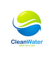 eco clean water abstract logo vector image vector image