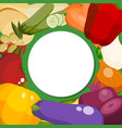 farm fresh vegetables round pattern vector image