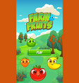farm fruits splash screen - mobile game assets vector image vector image