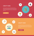 flat icons coin championship help and other vector image vector image
