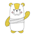 Funny colorful bear children animal for book vector image