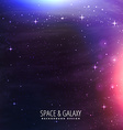 galaxy lights background vector image vector image