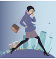 Going to work vector image vector image