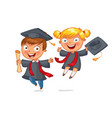 graduate funny cartoon character vector image