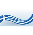 greece national flag waving unusual shape design vector image