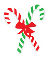 Green and red christmas candy cane vector image vector image
