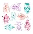handmade liner drawing of ethnic beetle in flat vector image vector image