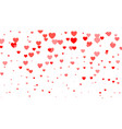 heart halftone valentines day background red vector image vector image