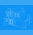 house blueprint vector image vector image