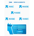 icons elements for security website vector image