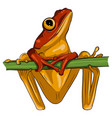 image an frog design on white background vector image vector image
